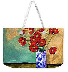 Poppies In A Vase Weekender Tote Bag
