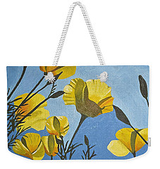 Poppies In The Sun Weekender Tote Bag by Donna Blossom