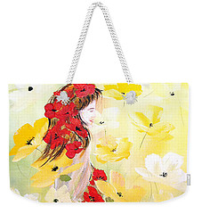 Poppies Lady Weekender Tote Bag by Dorothy Maier