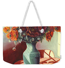 Weekender Tote Bag featuring the painting Poppies by Marlene Book