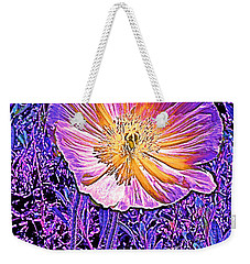 Weekender Tote Bag featuring the photograph Poppy 3 by Pamela Cooper