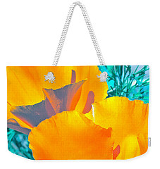 Weekender Tote Bag featuring the photograph Poppy 4 by Pamela Cooper