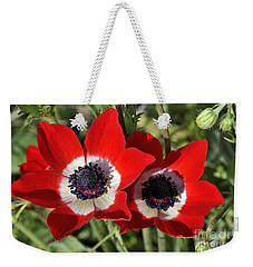 Poppy Anemones Weekender Tote Bag by George Atsametakis