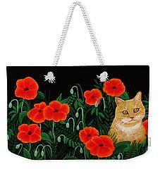 Poppy Cat Weekender Tote Bag