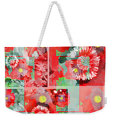 Poppy Collage Weekender Tote Bag