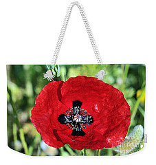 Poppy Flower Weekender Tote Bag by George Atsametakis