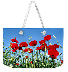 Poppy Flowers Weekender Tote Bag by George Atsametakis