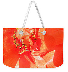 Weekender Tote Bag featuring the photograph Poppy Palette In Red by Brian Boyle