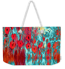 Poppy Passion Weekender Tote Bag by Holly Martinson
