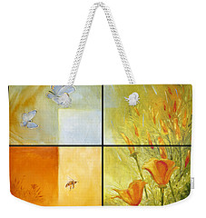 Poppy Pollination Weekender Tote Bag