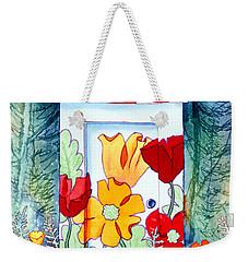 Poppy Potty Weekender Tote Bag by Teresa Ascone