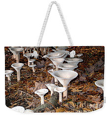 Weekender Tote Bag featuring the photograph Porcelain Cups by Liz  Alderdice