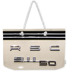 Porsche 50th Anniversary Rear Badge Weekender Tote Bag