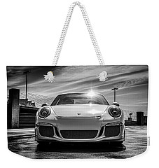 Weekender Tote Bag featuring the digital art Porsche 911 Gt3 by Douglas Pittman