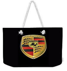 Porsche Logo On Black Weekender Tote Bag