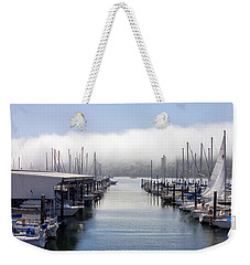 Weekender Tote Bag featuring the photograph Port Kingston Marina by Greg Reed