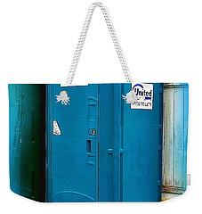 Weekender Tote Bag featuring the photograph Porta Puppy Potty... by Sadie Reneau