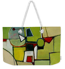 Weekender Tote Bag featuring the painting Portal No.1 by Michelle Abrams