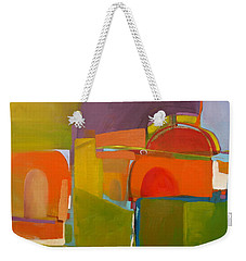 Weekender Tote Bag featuring the painting Portal No. 2 by Michelle Abrams