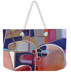 Weekender Tote Bag featuring the painting Portal No. 3 by Michelle Abrams