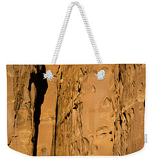 Weekender Tote Bag featuring the photograph Portal Through Stone by Jeff Kolker