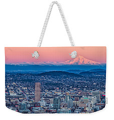 Portland And Mt Hood Weekender Tote Bag by Patricia Davidson