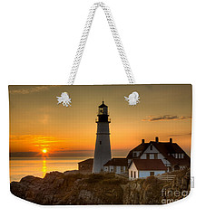 Portland Head Light At Sunrise II Weekender Tote Bag by Clarence Holmes