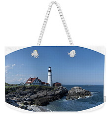 Weekender Tote Bag featuring the photograph Portland Head Light House by Daniel Hebard
