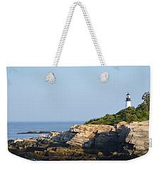 Portland Head Light In Summer Weekender Tote Bag
