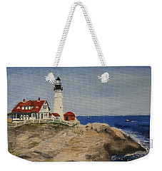 Portland Head Lighthouse In Maine Weekender Tote Bag