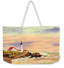 Portland Head Lighthouse Maine Weekender Tote Bag