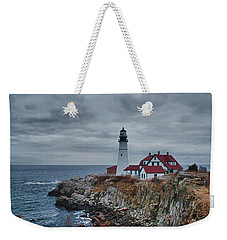 Weekender Tote Bag featuring the photograph Portland Headlight 14440 by Guy Whiteley