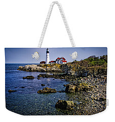 Weekender Tote Bag featuring the photograph Portland Headlight 36 by Mark Myhaver