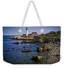Portland Headlight 37 Oil Weekender Tote Bag