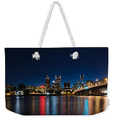 Portland Oregon Nightscape Weekender Tote Bag