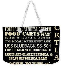 Portland Oregon Famous Landmarks Weekender Tote Bag