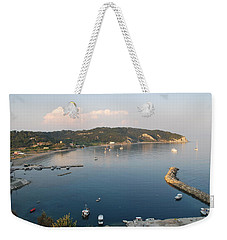 Weekender Tote Bag featuring the photograph Porto Bay by George Katechis