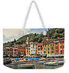 Weekender Tote Bag featuring the photograph Portofino Harbor 2 by Allen Beatty