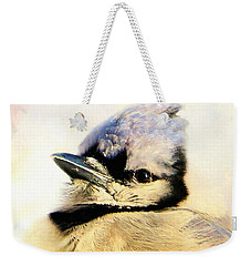 Portrait Of A Blue Jay Weekender Tote Bag