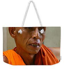 Portrait Of A Buddhist Monk Yangon Myanmar Weekender Tote Bag