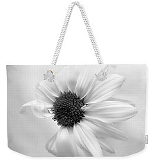 Weekender Tote Bag featuring the photograph Portrait Of A Daisy by Louise Kumpf