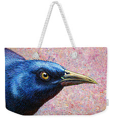 Portrait Of A Grackle Weekender Tote Bag