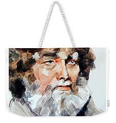 Watercolor Portrait Of A Sailor Weekender Tote Bag