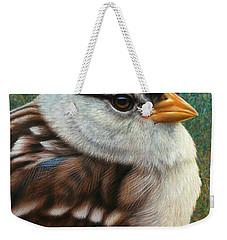 Portrait Of A Sparrow Weekender Tote Bag