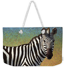 Portrait Of A Zebra Weekender Tote Bag by James W Johnson