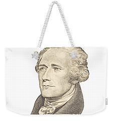 Portrait Of Alexander Hamilton On White Background Weekender Tote Bag by Keith Webber Jr