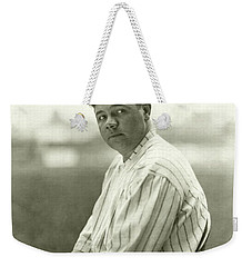 Portrait Of Babe Ruth Weekender Tote Bag by Nicholas Muray