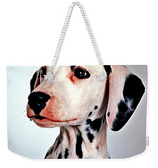 Portrait Of Dalmatian Dog Weekender Tote Bag