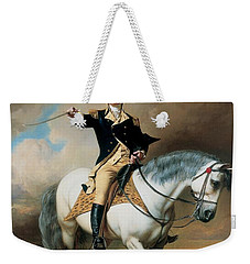 Portrait Of George Washington Taking The Salute At Trenton Weekender Tote Bag by John Faed