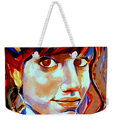 Weekender Tote Bag featuring the painting Portrait Of Ivana by Helena Wierzbicki